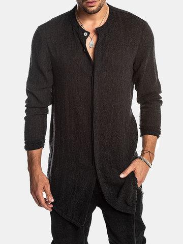 Mid Long Black  Shirt