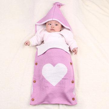 محبوك الطفل مقنع كيس النوم ل 0-24 متر