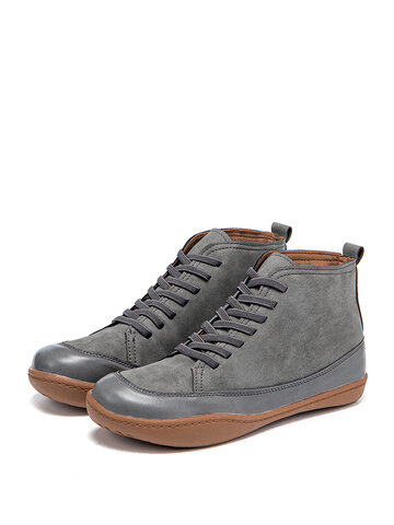 Lace-up Flat Casual Ankle Boots