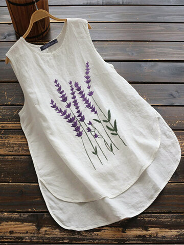 Embroidery Lavenders Tank Top