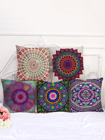 Mandala Pattern Printing Pillow Cover