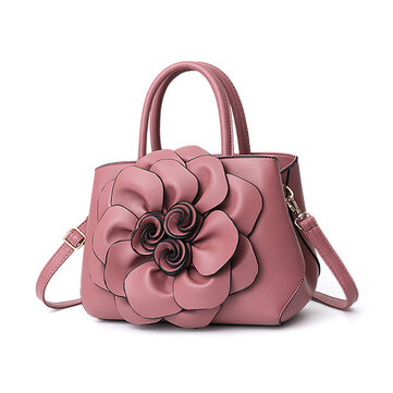 Women Flower Decorational Stylish Handbag