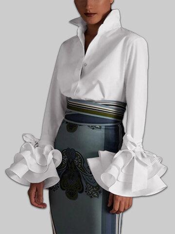 Fashion Flower Sleeve Shirt