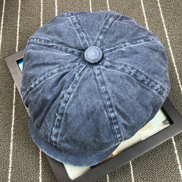 Denim Washed Newsboy Hat