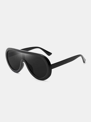 Unisex Colorful One-piece Lens Sunglasses