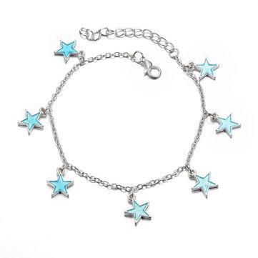Simple Lovely Luminous Star Anklets