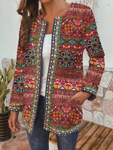 Bohemian Printed Patchwork Jacket