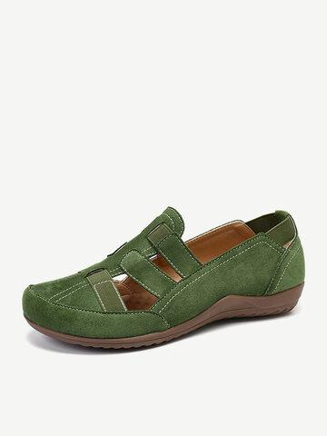 Suede Comfy Round Toe Flats