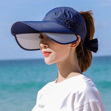 Telescopic Pull Plate Anti-ultraviolet Empty Top Hat