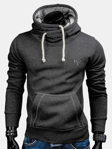 Solid Color Slim Fit Casual Hoodies
