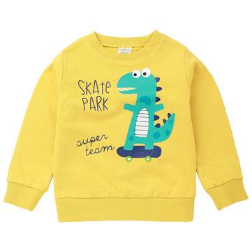 Dinosaur Boys Girls Sweatshirt For 2Y-11Y, Yellow watermelon red gray navy blue