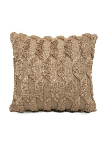 Geometric Plush Solid Color Pillow Bedroom Sofa Cushion Room Living Square Pillowcase