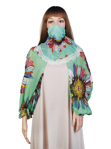 Mask Long Shawl Sleeves
