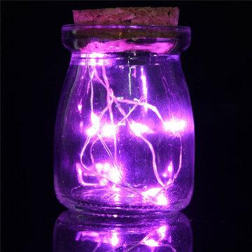 Romantic Xmas 10 LED Colours Seed Vase Lights Wedding Centrepiece Fairy Lights Home Decor