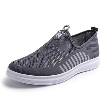 Men Mesh Mesh Respirável Light Weight Slip On Casual Shoes