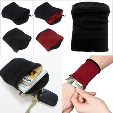Running Travel Gym Cycling  Wrist Wallet Pouch Band