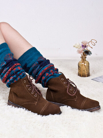 Women's Compression Socks Fashion Knitted Boots Loafer Socks
