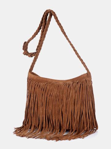 Fashion Retro Tassel Decoration Crossbody Bag