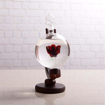 Previsão do tempo de Natal Crystal Globe Shape Storm Glass