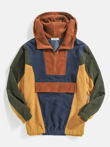 Multi-Color Block Stitching Hoodies