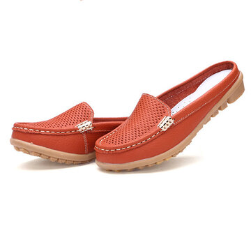 Hollow Out Lazy Flat Loafers