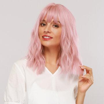 12Inch Smoky Pink Wig