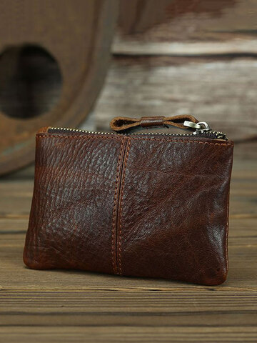 Genuine Leather Coin Key Wallet
