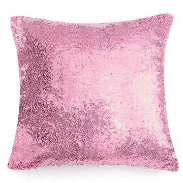 Sequins Fashion Cushion Cover Cotton Linen Pillow Case