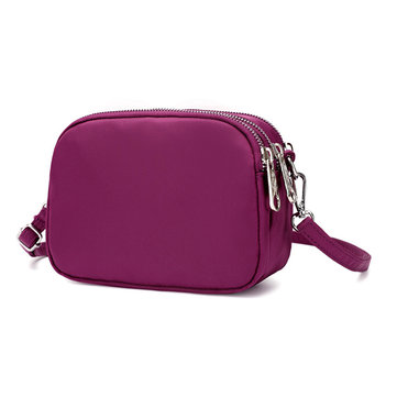 Mulheres Nylon Waterproof Multi-slot Crossbody Bags