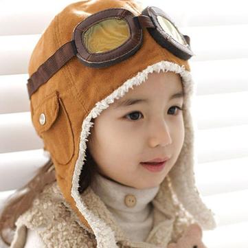 2-6 سنوات للأطفال الطيار قبعة الطيار