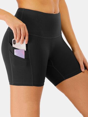Quick-Drying High Waist Sports Shorts