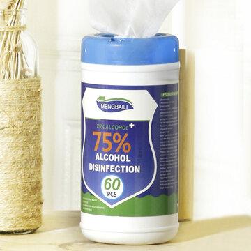 Toalhetes para desinfecção de álcool a 75%