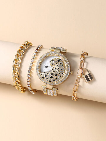 Quartz Watch 4 PCS Set