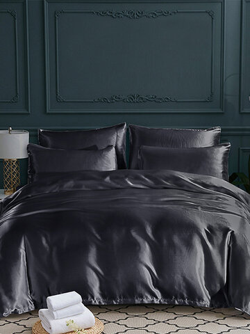 Bedding Sets Soft Silk Like King Double Size Summer Bed Linen China Luxury Bedding Kit Duvet Cover Set