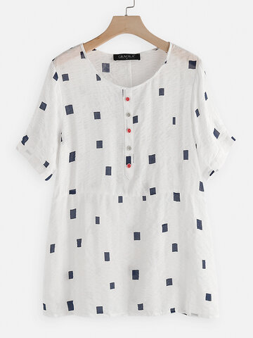 Geometric Print Casual T-shirt