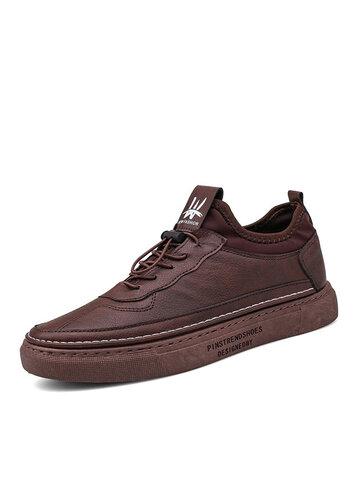 Men Comfy Microfiber Leather Outdoor Shoes