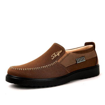 Men Color Blocking Slip On Casual Shoes