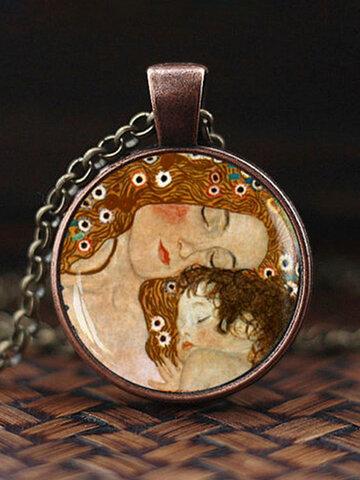 Mountain Sea Printed Necklace