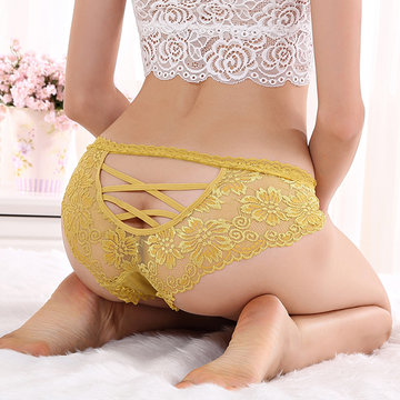 Sexy Hollow Out Back Lace Panties фото