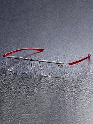 Unisex Metal HD Frameless Reading Glasses