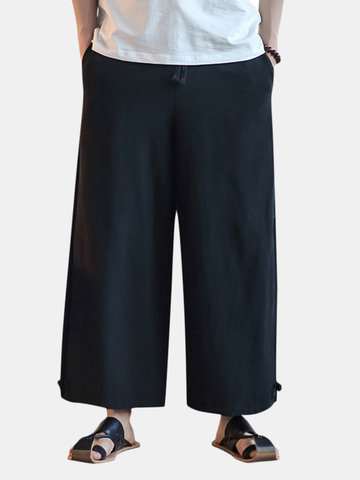 Chinese Style Loose Wide Leg Pants