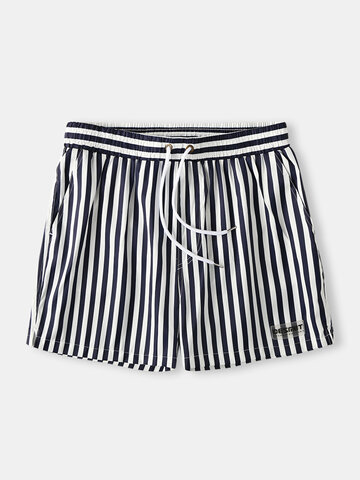 Casual Stripe Mesh Liner Shorts