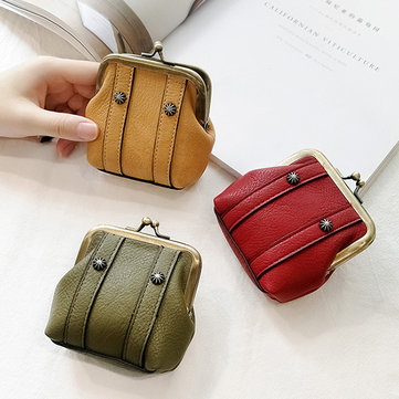 Mini Shell Lovely Hasp PU leather Coin Bags