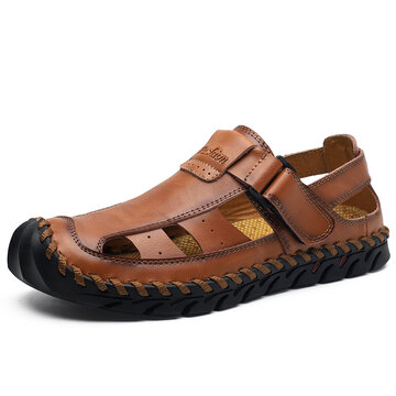Men Leather Non-slip Casual Outdoor Sandals