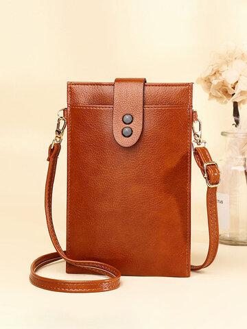 Vintage PU-Leder-Telefontasche mit mehreren Taschen