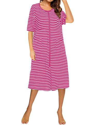 カジュアルストライプドレス