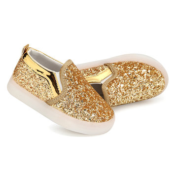 Sequins LED Luminous Children Flats