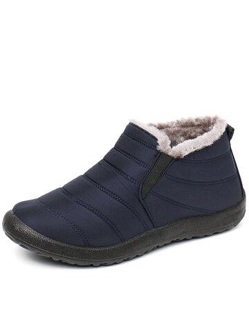 Men Waterproof Fabric Warm Casual Snow Boots