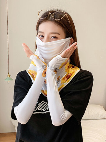 Driving or Cycling Sun Protection Sleeves Shawl, Summer Outdoor Sports Mask