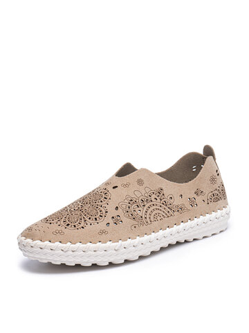 Round Toe Flat Stitching Loafers Shoes